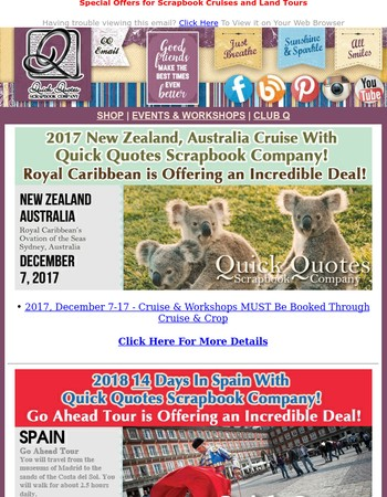Join QQ in New Zealand, Spain, and New England