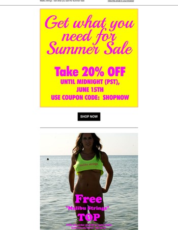 Get what you want for Summer Sale