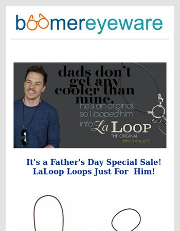 Fathers Day Sale!  LaLoop Eyeglass Holders+Free Shipping