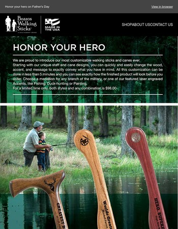 Honor Your Hero this Fathers Day - June 18th