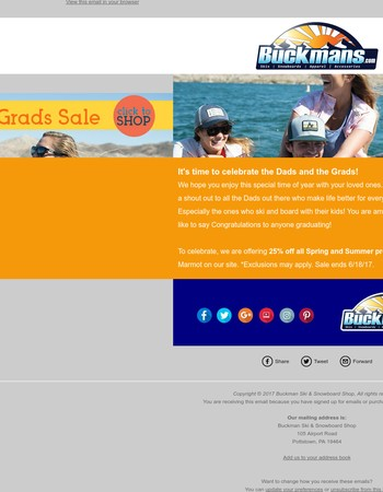 Dads and Grads Sale Starts Today!