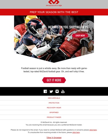 FREE Shipping & Football