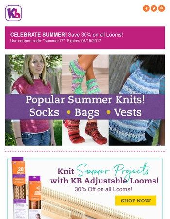Popular Summer Projects and 30% Off