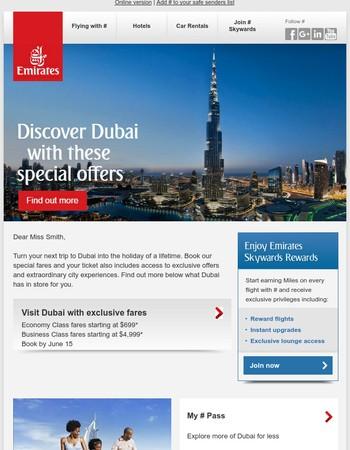 Explore Dubai from $699, plus more special offers