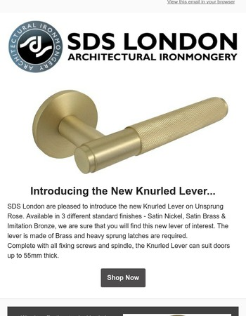 Introducing the new Knurled Lever