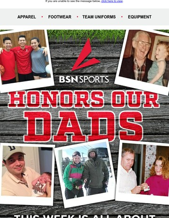 We're honoring our Dads all week! Celebrate with us.