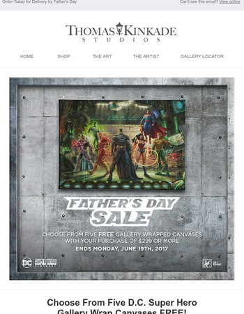 A Heroic Father's Day Offer from Thomas Kinkade Studios