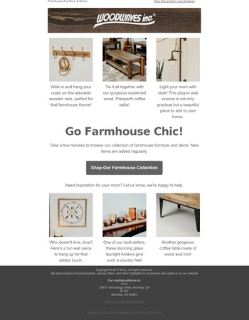 Woodwaves Newsletter
