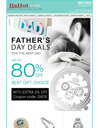 Father's Day Sale, Save up to 80%!