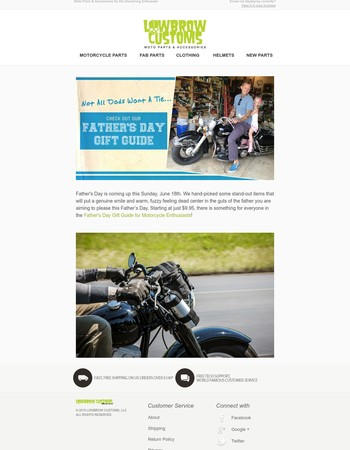 Father's Day Gift Guide for Motorcycle Enthusiasts