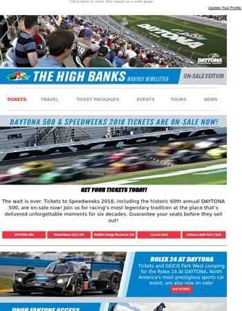 Daytona 500 & Speedweeks tickets are on-sale now!