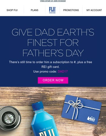 Free REI gift card with Dad's gift