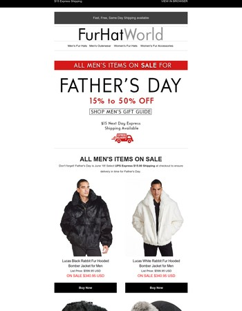 All Men's Items on SALE for Father's Day!
