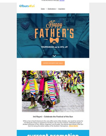 5 Days Left: Father's Day Inspired Travel Sale!