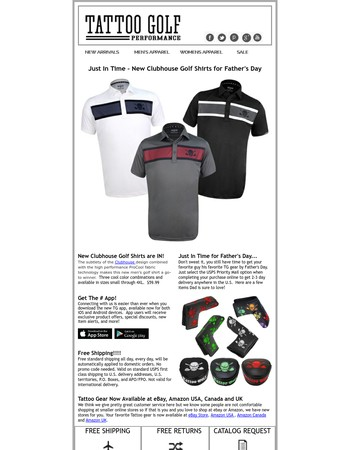 Get 20% Off Men's Golf Shorts until Thursday, 06 Dec Get better discounts on your spending by using this code.