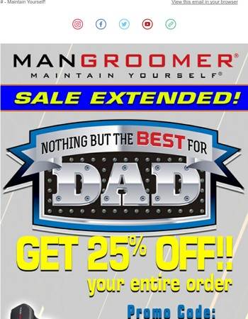 Mangroomer.com Newsletter
