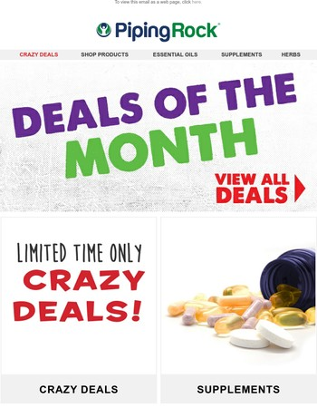 New Deals Of the Month! Hurry Before we Run Out