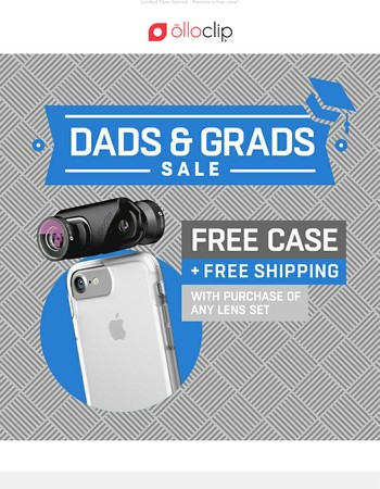 Celebrate Dads & Grads with a Free Case & Free Shipping!