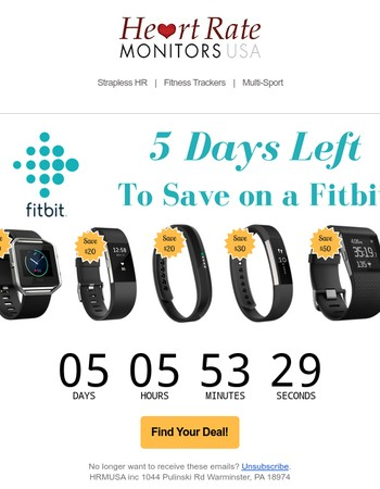 Time is running out on this Fitbit Sale!