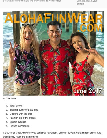 AlohaFunWear's Summer Sizzling Style