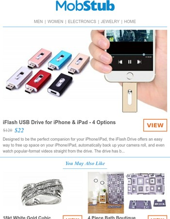 iFlash USB Drive for iPhone & iPad - Save 82% Off Retail!
