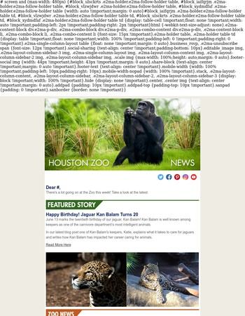 Zoo News: Jaguar Turns 20 and More!