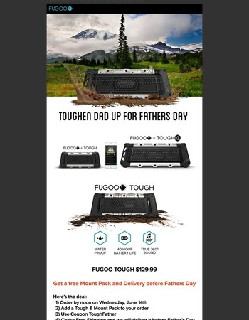 Fugoo Tough & Tough XL For Father's Day Deal - Order by Wed Noon
