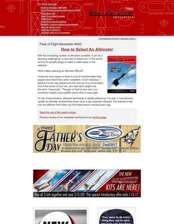 Peak of Flight Newsletter #445