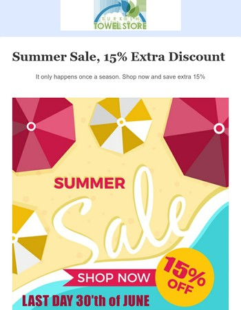 Summer Sale, 15% Extra Discount from Turkish Towel Store