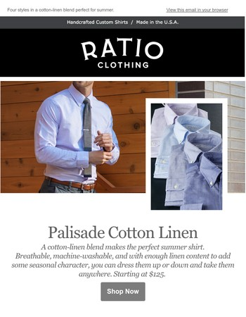 New Summer Fabrics: The Palisade Cotton-Linen // Fathers Day 2017
