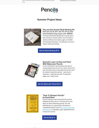 Summer Project Ideas