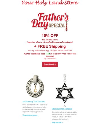 Father's Day Sale Ends Tomorrow!