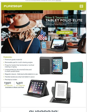 New and Improved Tablet Folio Elite