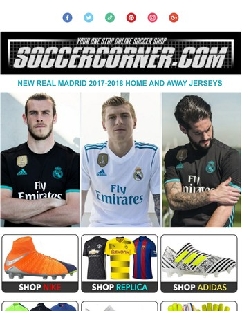 NEW 2017/18 Real Madrid Jerseys at soccercorner.com