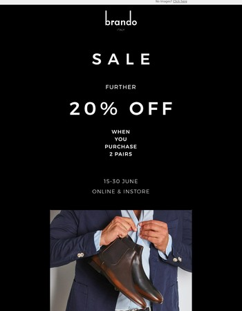 SALE  - Further 20% Off