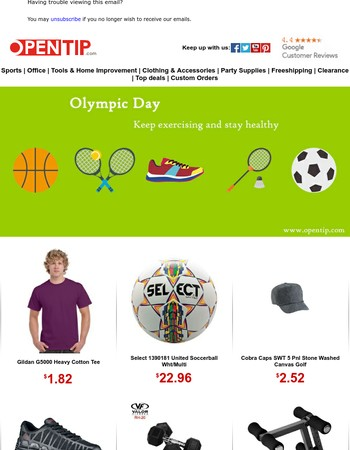 It's time to keep fit - Olympic Day