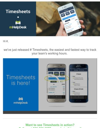 Introducing mHelpDesk Timesheets!