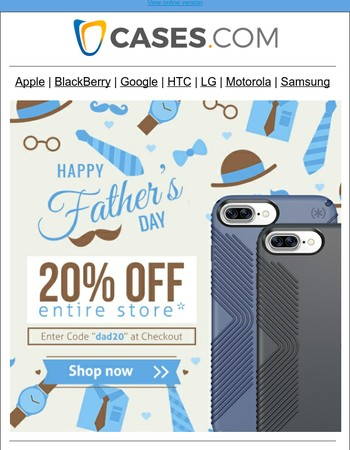 Father's Day Sale - 20% Off Sitewide