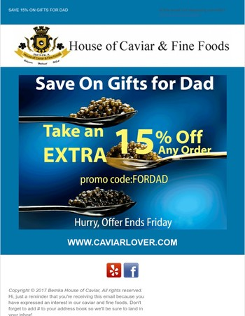 Last Chance Father's Day Gourmet Gifts Sale