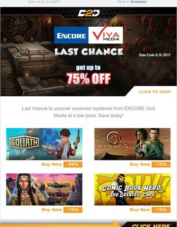 LAST CHANCE | Get up to 75% Off ENCORE Viva Media Sale