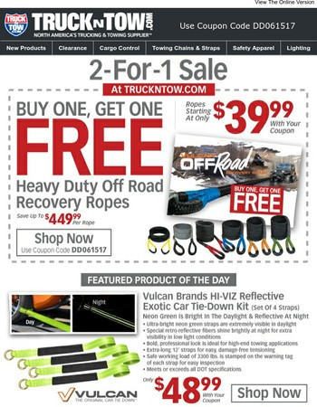 2-For-1 Sale - Buy One Recovery Rope, Get One Free