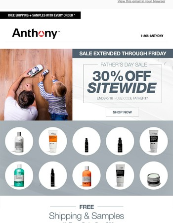 30% Off Sitewide Extended Through Friday