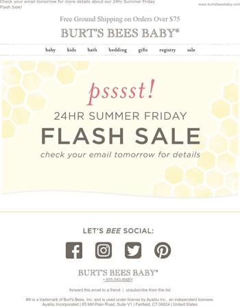 Tomorrow: 24hr Summer Friday Flash Sale