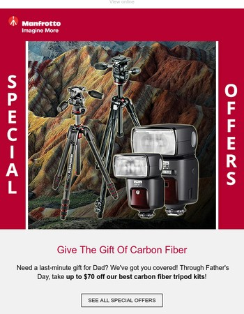 Need A Last-Minute Gift For Dad? How About Up To $70 Off Tripods!