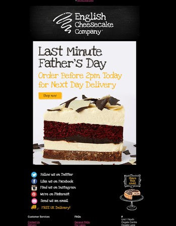 Last Minute Father's Day - Order by 2pm Today