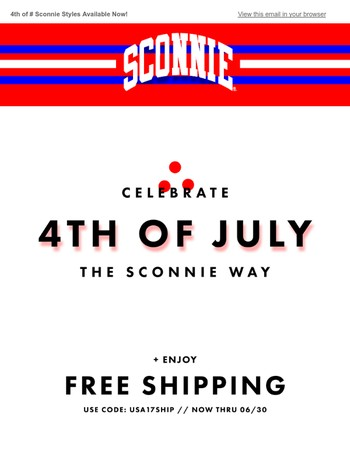 Celebrate 4th of July of the Sconnie Way!