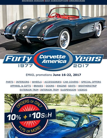 10% OFF plus $10 Shipping - Car Cover Sale - Free Shipping on C2 and C3 Wheels