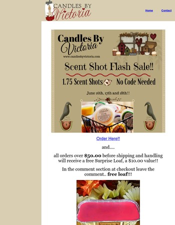 Candles By Victoria Flash Sale!