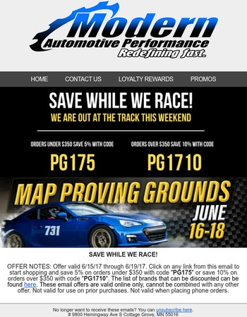Save While We Race!