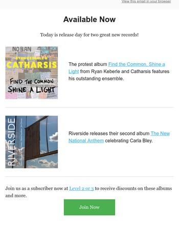 New Ryan Keberle and Dave Douglas/Chet Doxas albums!
